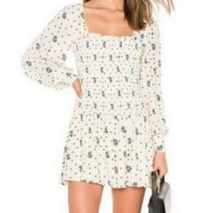 NWT Free People White Two Faces Mini Dress
